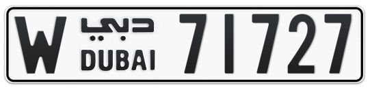 W 71727 - Plate numbers for sale in Dubai