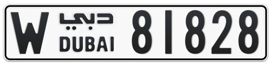 W 81828 - Plate numbers for sale in Dubai
