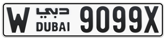 W 9099X - Plate numbers for sale in Dubai