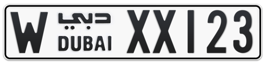 W XX123 - Plate numbers for sale in Dubai