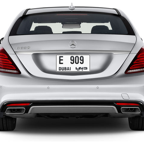 Dubai Plate number E 909 for sale - Short layout, Сlose view