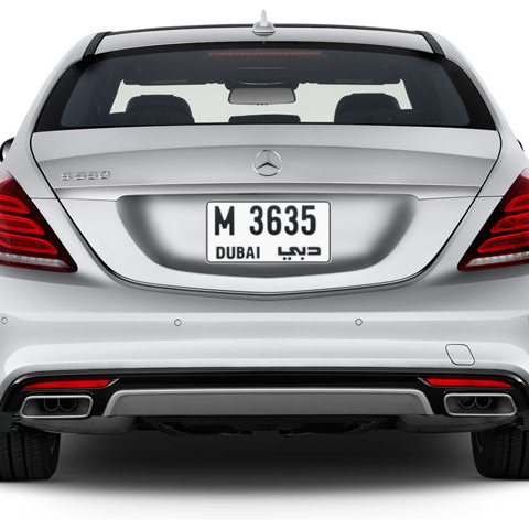 Dubai Plate number M 3635 for sale - Short layout, Сlose view