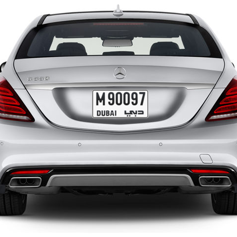 Dubai Plate number M 90097 for sale - Short layout, Сlose view