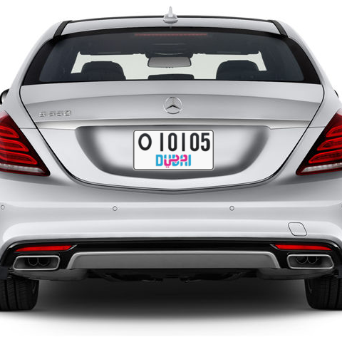 Dubai Plate number O 10105 for sale - Short layout, Dubai logo, Сlose view