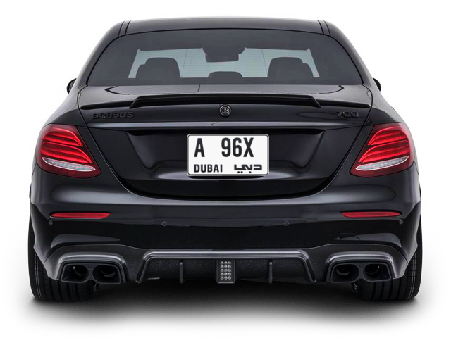 Dubai Plate number A 96X for sale - Short layout, Full view