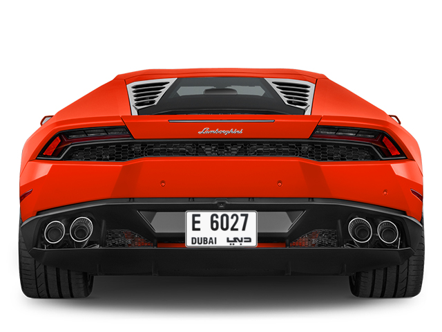 Dubai Plate number E 6027 for sale - Short layout, Full view