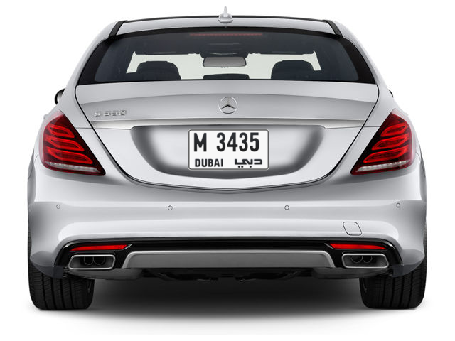 Dubai Plate number M 3435 for sale - Short layout, Full view