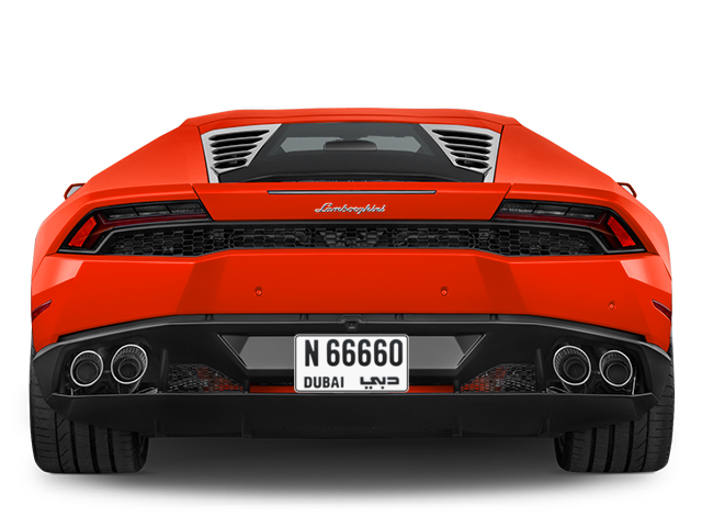 Dubai Plate number N 66660 for sale - Short layout, Full view