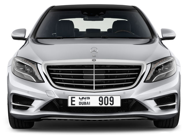 Dubai Plate number E 909 for sale - Long layout, Full view