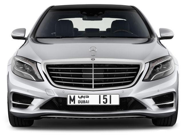 Dubai Plate number M 151 for sale - Long layout, Full view