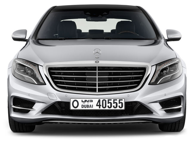 Dubai Plate number O 40555 for sale - Long layout, Full view