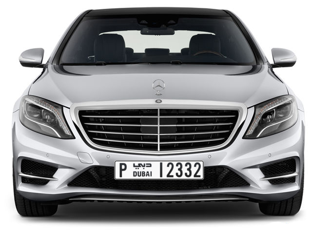 Dubai Plate number P 12332 for sale - Long layout, Full view