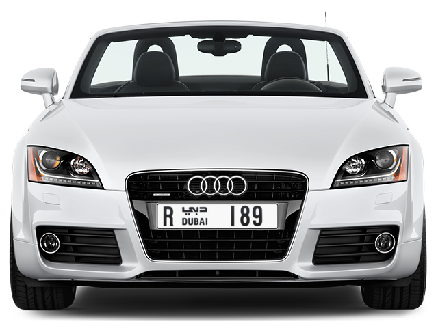 Dubai Plate number R 189 for sale - Long layout, Full view