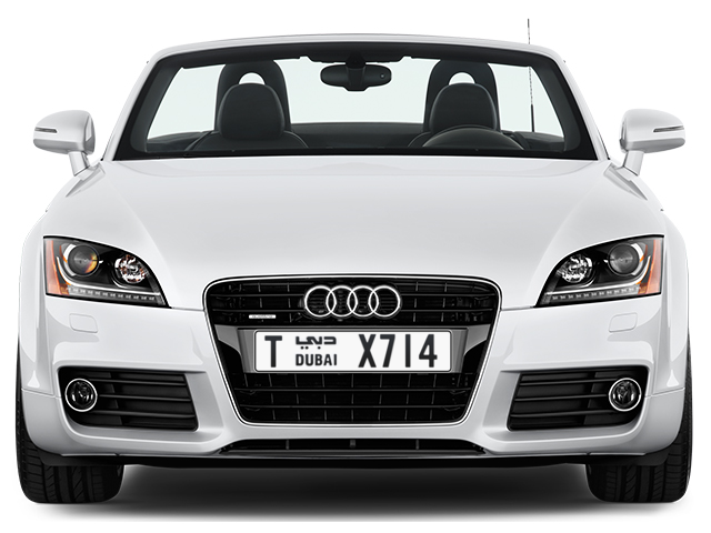 Dubai Plate number T X714 for sale - Long layout, Full view