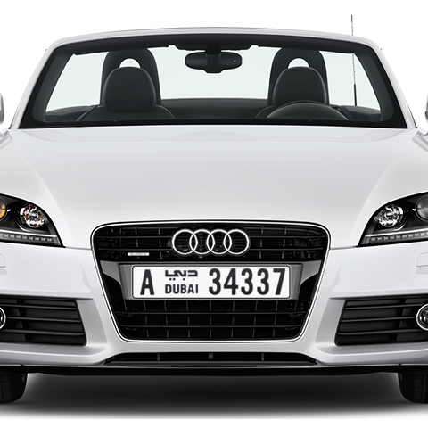 Dubai Plate number A 34337 for sale - Long layout, Сlose view