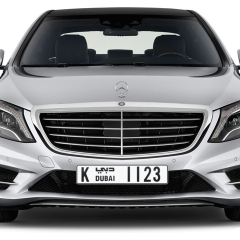 Dubai Plate number K 1123 for sale - Long layout, Сlose view