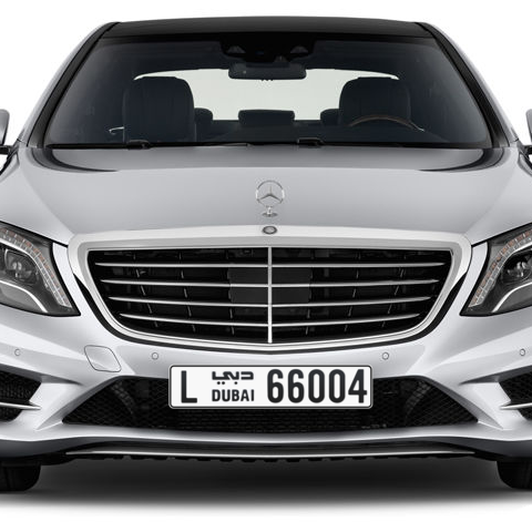 Dubai Plate number L 66004 for sale - Long layout, Сlose view