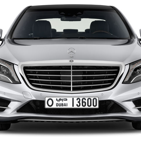 Dubai Plate number O 13600 for sale - Long layout, Сlose view