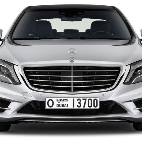 Dubai Plate number O 13700 for sale - Long layout, Сlose view
