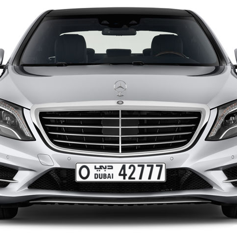 Dubai Plate number O 42777 for sale - Long layout, Сlose view