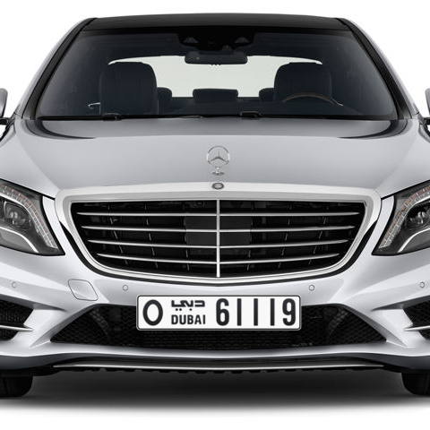 Dubai Plate number O 61119 for sale - Long layout, Сlose view
