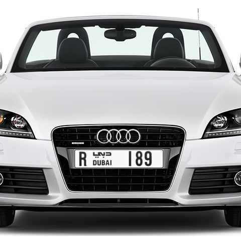 Dubai Plate number R 189 for sale - Long layout, Сlose view
