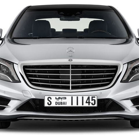Dubai Plate number S 11145 for sale - Long layout, Сlose view
