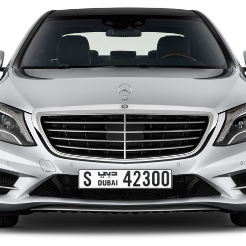 Dubai Plate number S 42300 for sale - Long layout, Сlose view