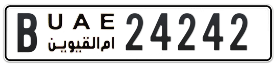B 24242 - Plate numbers for sale in Umm Al Quwain